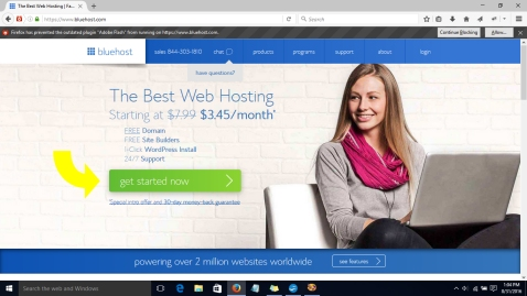 blue host blog hosting