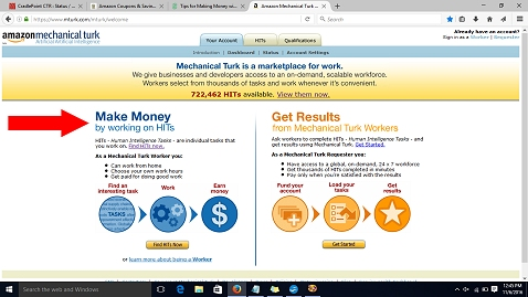 Sigh up with Amazon MTurk