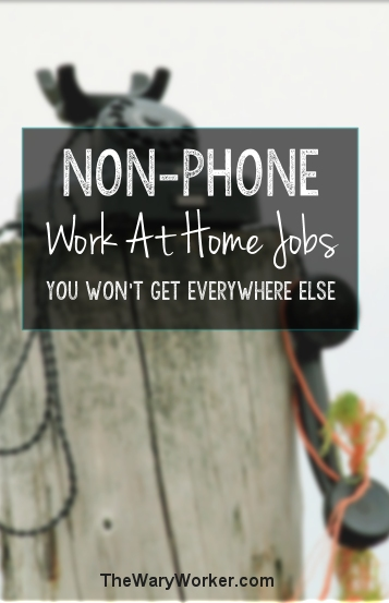 non-phone work at home jobs