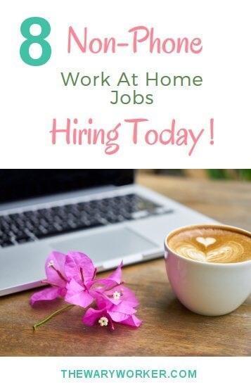 Non-phone work at home jobs hiring today