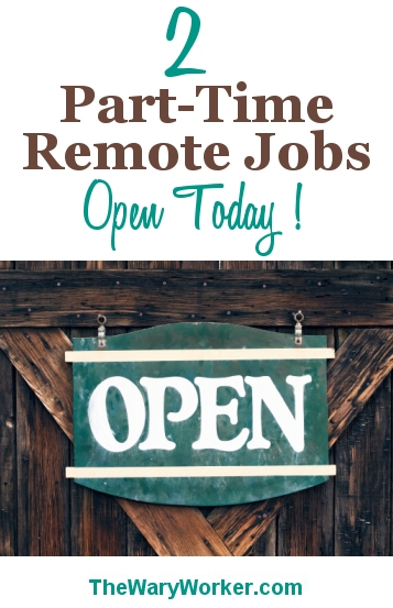 Part Time Remote Jobs Open Today