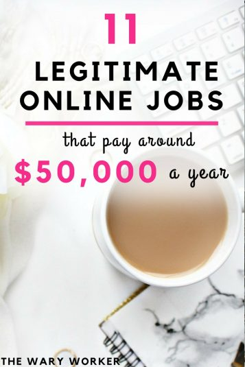 Legitimate online jobs paying up to $50,000 a year