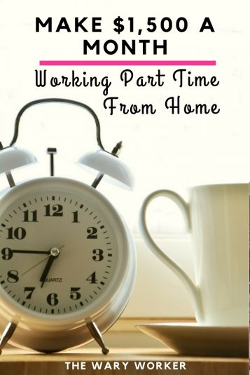 Working part time from home
