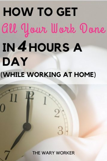 How to work 4 hours a day
