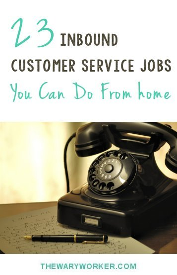 Inbound customer service jobs