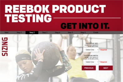 reebok product tester