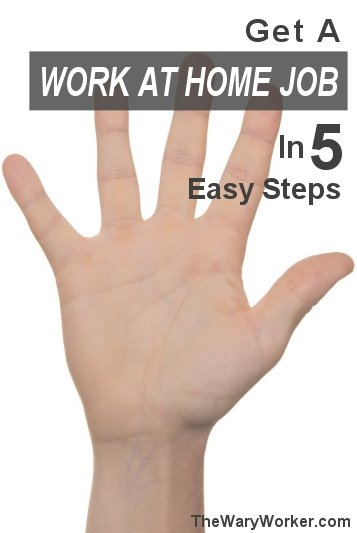 How to get a work at home job in 5 steps