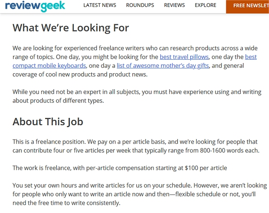 Review Geek Pays You To Write