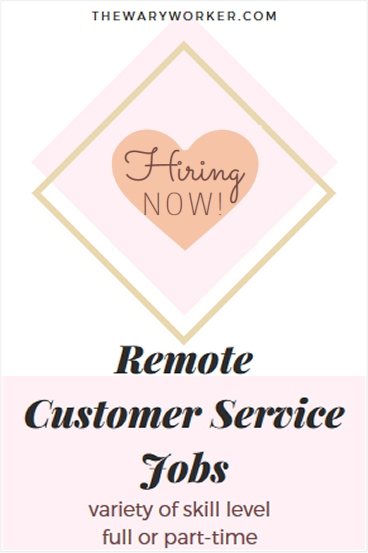 Hiring now: 4 remote customer service jobs