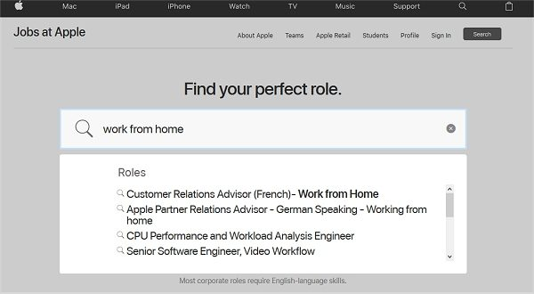 Apple At Home Jobs