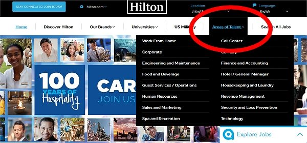 Hilton Hiring Home Workers
