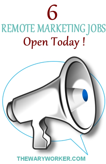 Remote marketing jobs open today