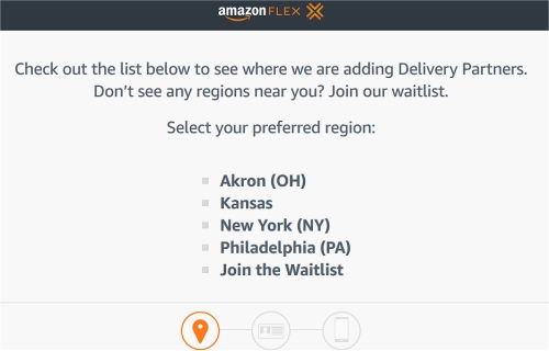 Amazon Flex Driver jobs available in these cities.