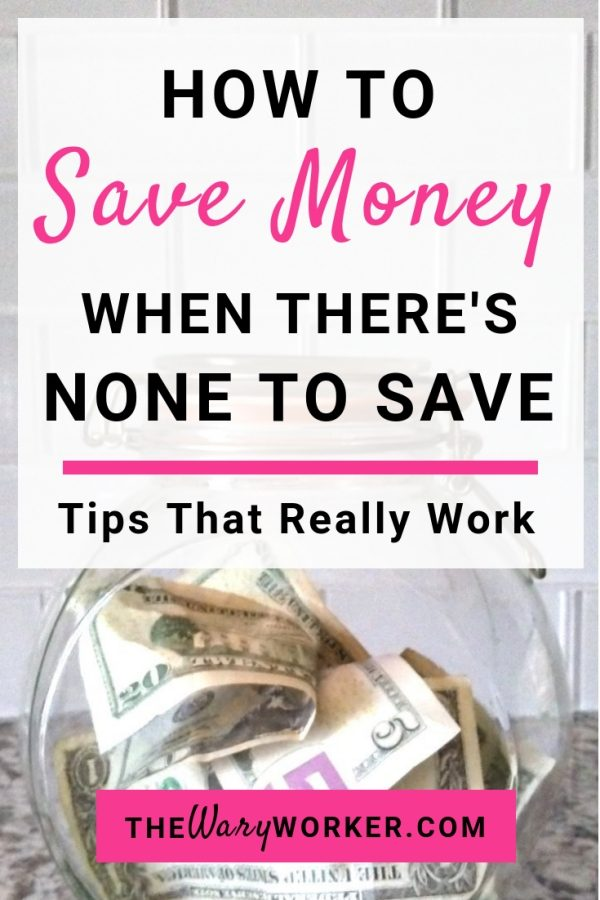 How To Save Money When Broke