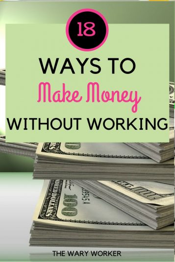 Make money without getting a job