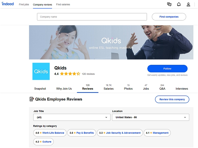 Best Online ESL companies to work for: QKids