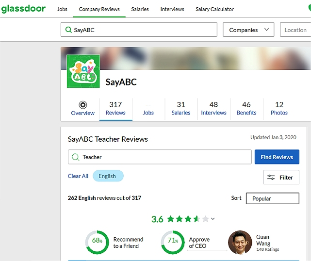 Best Online ESL Companies To Work For: SayABC