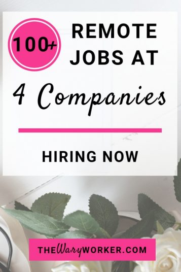 100 remote jobs hiring now