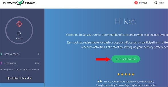 Get Started on Survey Junkie