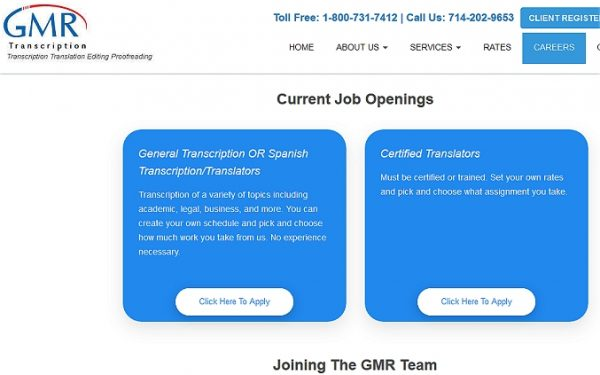 GMR Transcription is the best transcription company to work for as a beginner.