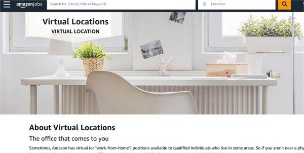 work for Amazon from home: get one of their virtual jobs