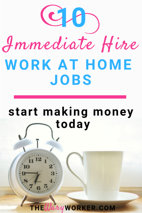 Immediate Hire Remote Jobs