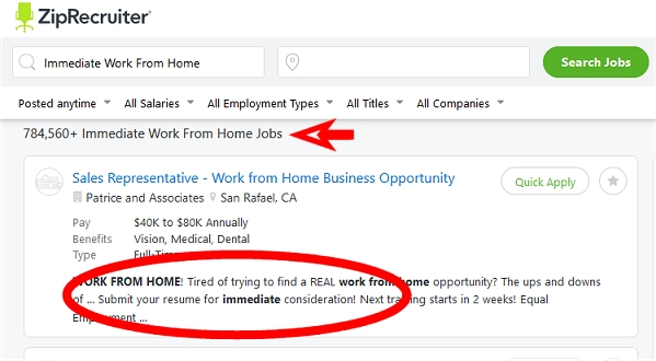 Work from home jobs hiring now