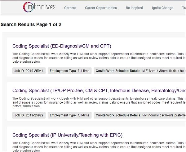 Medical Coding Jobs at nThrive
