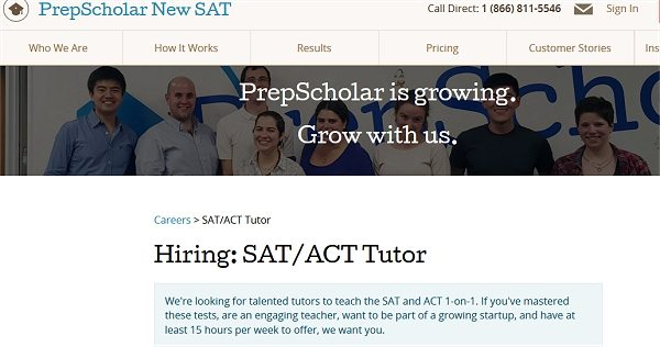 SAT and ACT Tutor Job