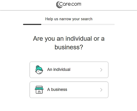 Narrow down job search Care.com
