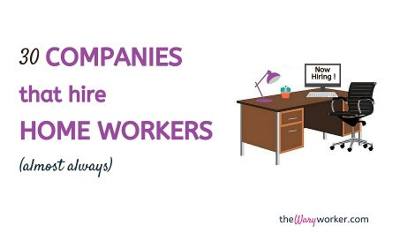 Companies Hiring Home Workers