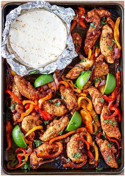 Fast Dinner Idea Kids Love: Sheet Pan Chicken Fajitas