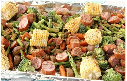 Super Quick Dinner Idea: Veggie Sausage Sheet Pan Recipe