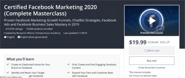 Certified Facebook Marketing