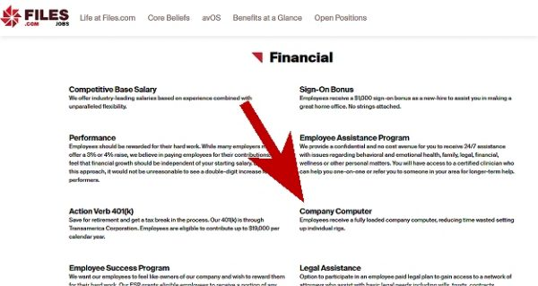 Work from home jobs that provide equipment at Files.com