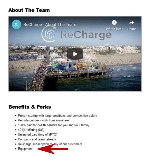 Recharge: A Remote Company That Provides Equipment