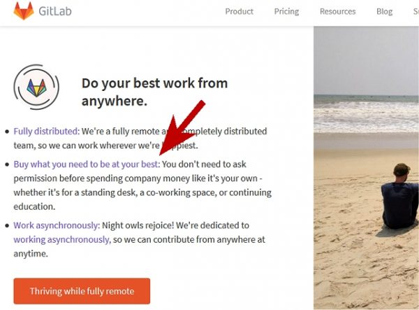 Work From Home Company That Provides Equipment: Gitlab