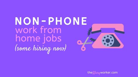 Non Phone Work From Home Jobs
