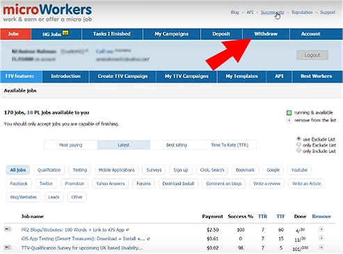 Make money doing data entry with Microworkers