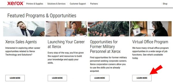 Virtual jobs at Xerox