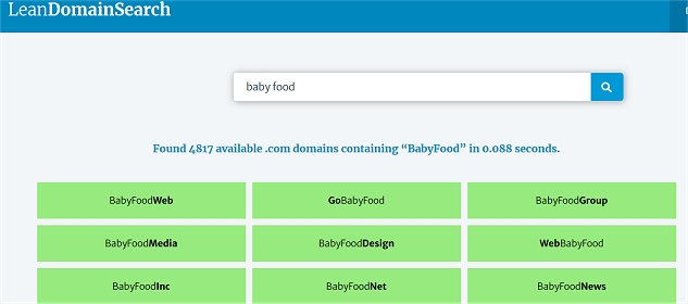 Domain name tool for your mom blog