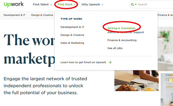 Upwork Online Writing Jobs
