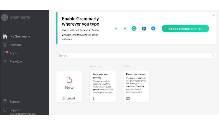 Grammarly: Best free content writing software